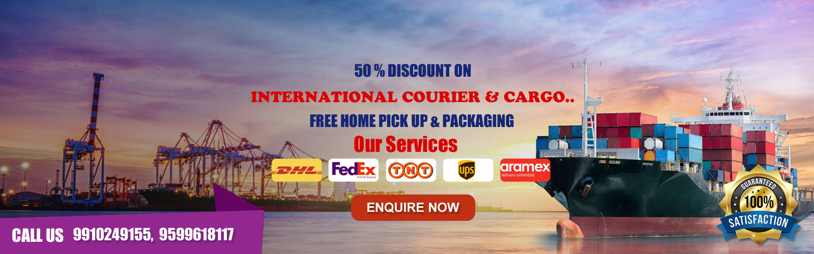 International Courier and Cargo Services in Tilak Nagar